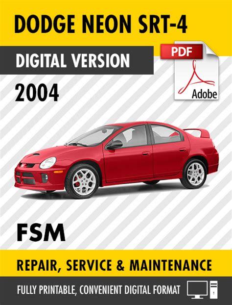 service manual repair manual 2004 dodge neon free service manual repairing 1999 dodge neon