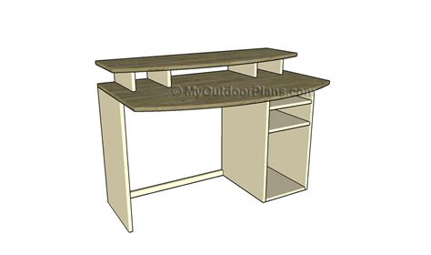 building computer desk computer desk plans free outdoor plans diy shed
