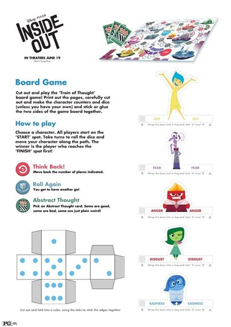 craft activities free inside out crafts printables from disney s pixar