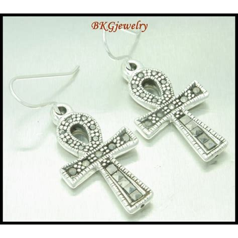 silver electroforming jewelry electroform 925 sterling silver fashion marcasite earrings