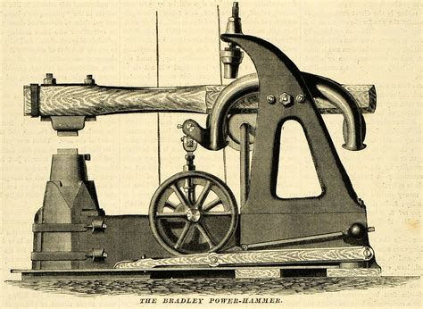 antique woodworking machinery 1873 print bradley power hammer antique machinery tools