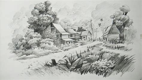 landscapes to draw how to draw a landscape with pencil