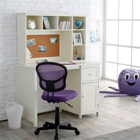 bedroom desks piper student desk with optional hutch set vanilla at
