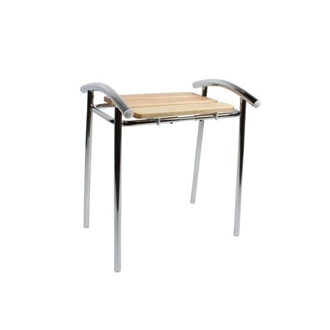 tabouret de salle de bain sedilvasca chrom 233 et bois chaise de