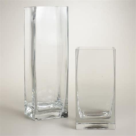 square glass clear glass square vases world market