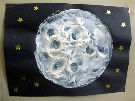 moon crafts for choices for children textured moon paintings