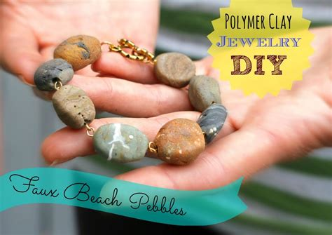 how to make rock jewelry diy faux jewelry from polymer clay inspired by