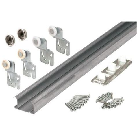 bypass closet door track prime line bypass closet door track kit