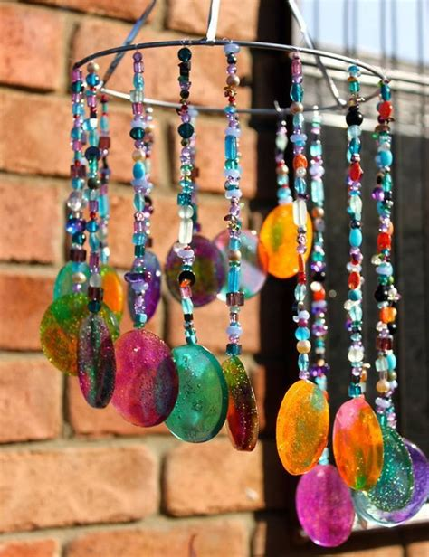 melted bead wind chimes diy sun catcher tutorial http stayathomelife me 2013 04