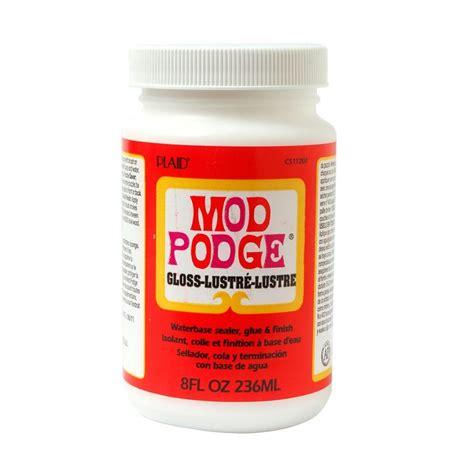 decoupage and mod podge mod podge 8 oz gloss decoupage glue cs11201 the home depot