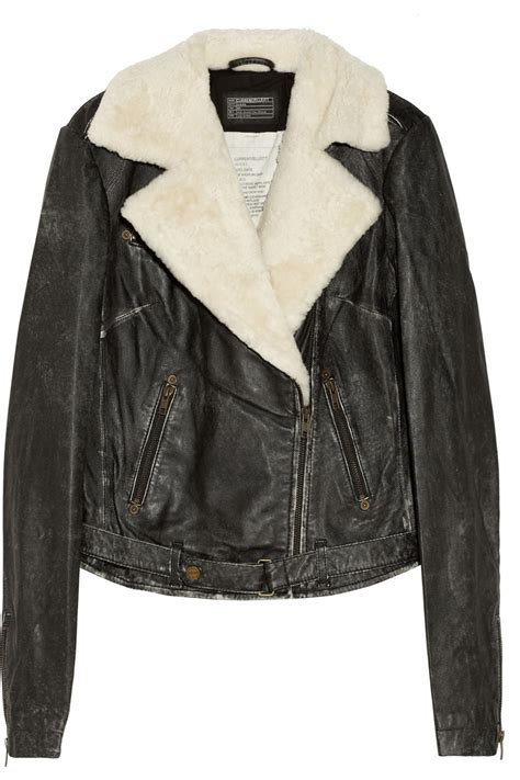 leather and shearling jacket shearling jackets jackets