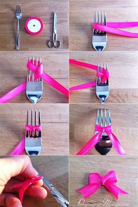 how to make a bow how to make a bow using a fork pictures photos and