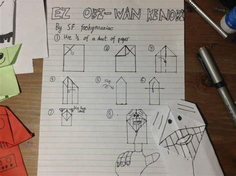 how to make an origami obi wan kenobi origami yoda obi wan comot