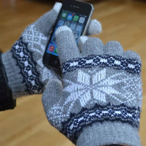 knit touchscreen gloves touchscreen chunky knit gloves by alphs alphabet