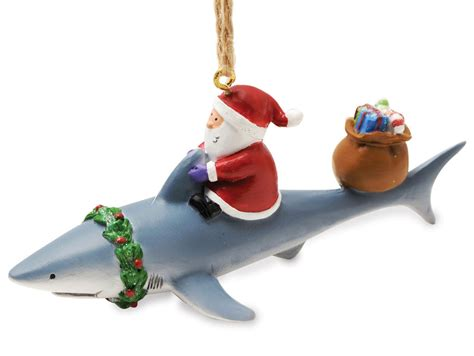 fishing ornaments santa shark nautical fishing ornament ebay