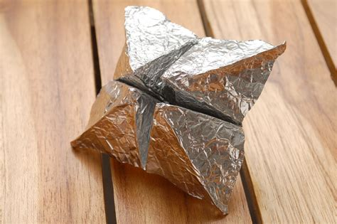 tin foil origami how to make aluminum foil origami 9 steps with pictures