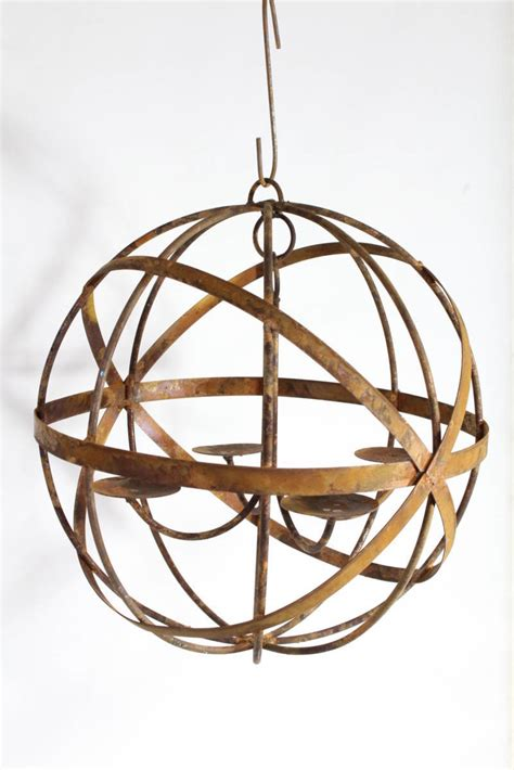 iron candle chandelier 20 quot wrought iron mystic sphere candle chandelier