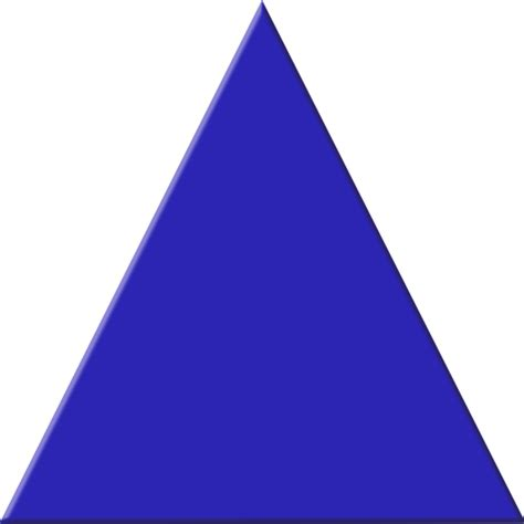 triangle blue blue triangle free images at clker vector clip