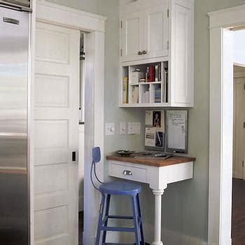 kitchen corner desk built in desk transitional kitchen bhg