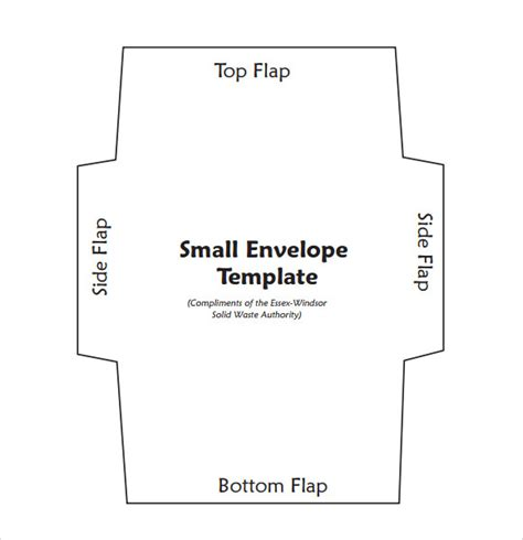 envelope templates for card small envelope template 7 free documents in