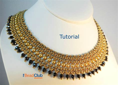 beaded necklaces for beaded necklace patterns seed bead tutorials bead netting