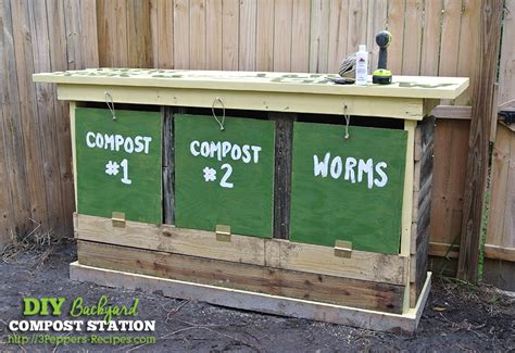 backyard compost bin hometalk diy backyard compost station