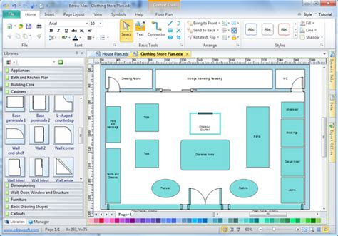 layout program free store layout software edraw