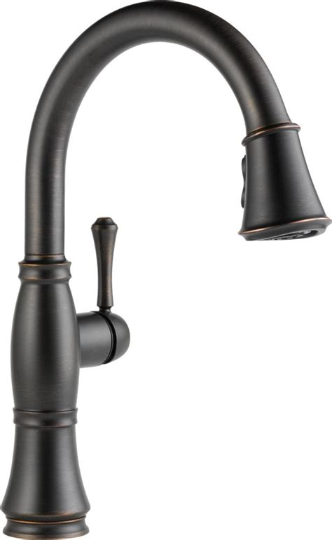 kitchen faucets delta delta faucet 9197 ar dst cassidy single handle pull