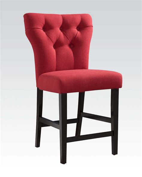 Acme Furniture Dining Room Set red linen counter height chair effie by acme ac71525 set
