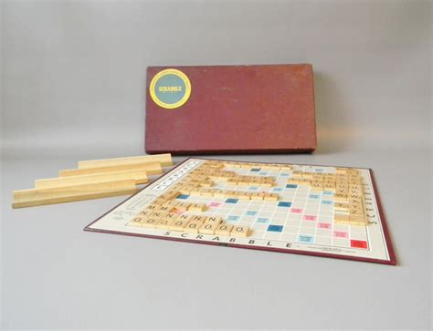 antique scrabble board vintage 1950 s scrabble board