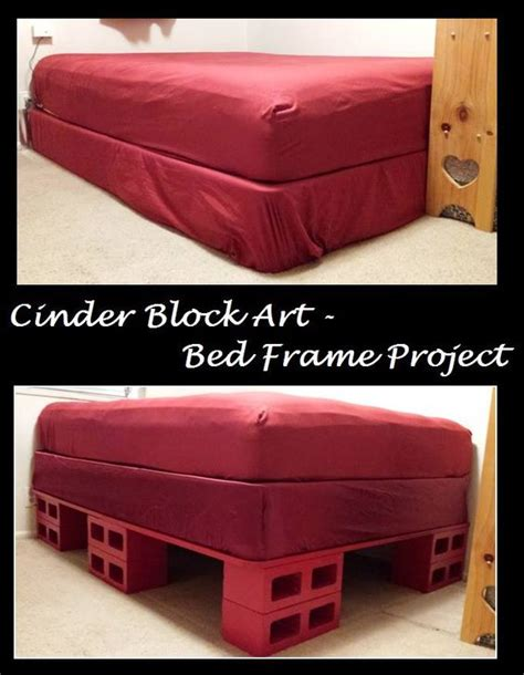 concrete block bed frame broken toe colors and bed frame storage on