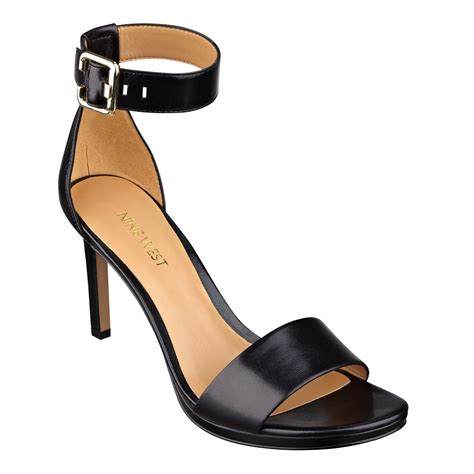leather platform sandals nine west meantobe platform sandals in black black leather lyst