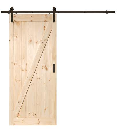 lowes barn door shop reliabilt z frame soft pine sliding barn