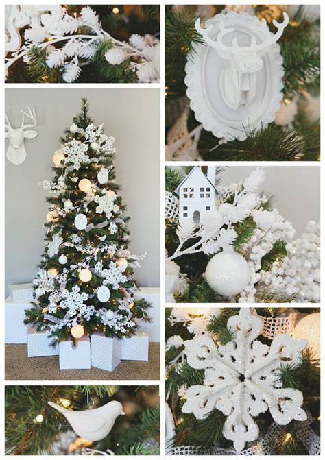 all white tree decorations white tree ornaments eighteen25