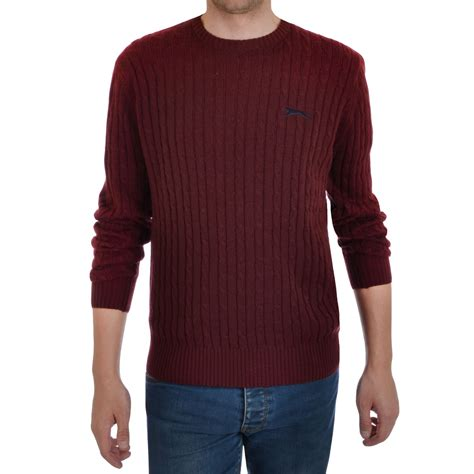 mens cable knit sweaters slazenger nicklaus mens crew neck chunky cable knit