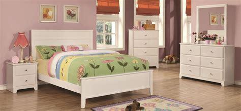 ashton bedroom furniture ashton white youth panel bedroom set from coaster 400761t