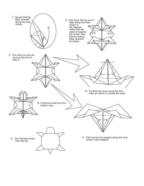 origami turtle diagram origami sea