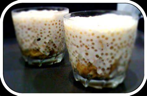 perles du japon au lait de coco et aux bananes avec gourmandise