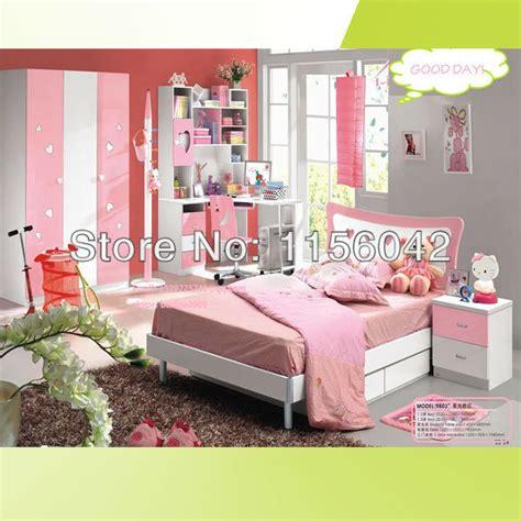 cheap toddler bedroom furniture sets top sale pink color children furniture bed
