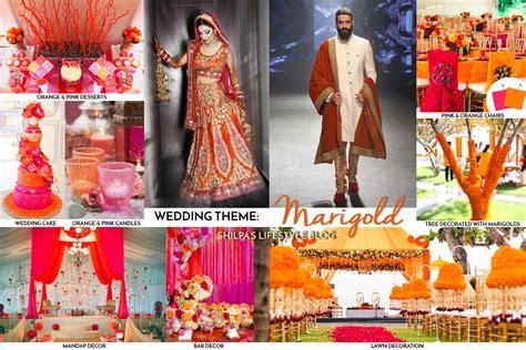 colour in decorations indian wedding decorations theme ideas lehenga colors