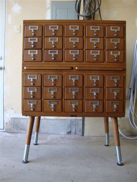 how to make a card catalog cabinet vintage industrial worden co 30 drawer library card