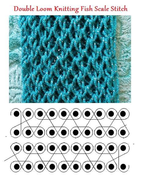 knitting loom stitches loom knitting fish scale stitch knitting loom