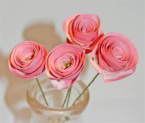 roses paper craft a craft a day seed paper roses tutorial