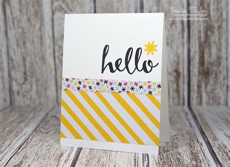 easy cards to make ideas hello easy card idea ink it up with