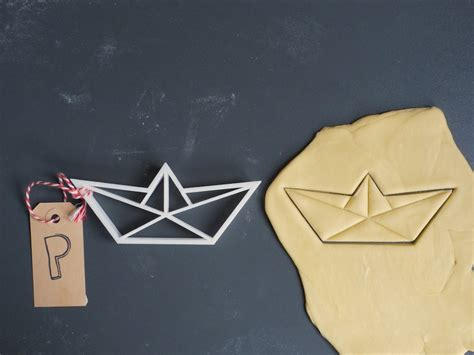 origami cutter origami boat cookie cutter 3d printed b3dgeable
