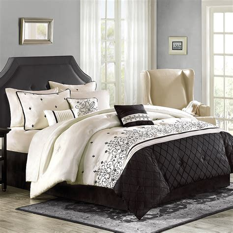 comforter set luxury home willowbrook 8 comforter set walmart