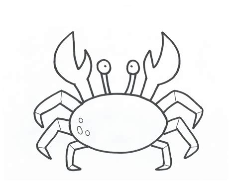 free outline of a crab coloring pages