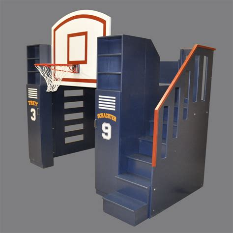 boys size bed basketball bunk bed designed by tanglewood design
