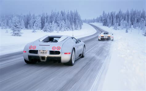 Car Wallpaper Snow by Bugatti Veyron Vehicles Cars Supercar Landscapes