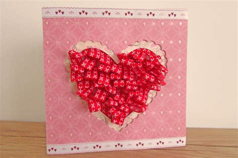 make an valentines card how to make a pleated ribbon valentines card hobbycraft